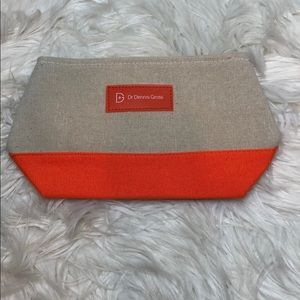 Dr. Dennis Gross Tweed Orange Cosmetic Zip Case